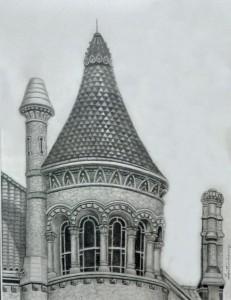 Bishop's-Tower,-Graphite,-8x10