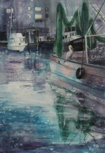 Harbor  Reflections WC 14x22 Sold